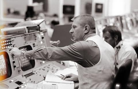 Photo of Apollo 13 flight controller Eugene Kranz
